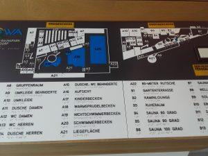 Lageplan am Eingang